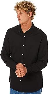 Swell Men's Manila Mens Ls Linen Shirt Long Sleeve Cotton Linen Natural