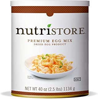 Nutristore Freeze Dried Premium Egg Mix | Easy Prep | Emergency and Survival Food Supply | Powdered Eggs | Amazing Taste