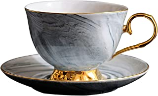Ecentaur Tea Cup and Saucer Set for Party Vintage Coffee Teacup Royal Style in GIF Box with Spoon