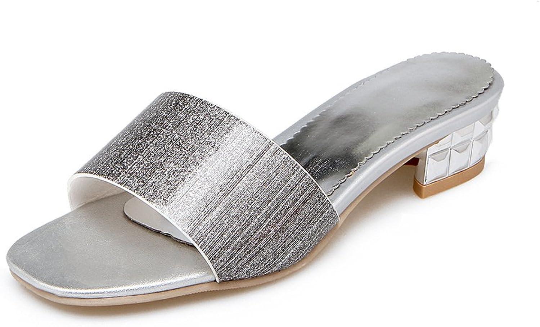 Baviue Women's Leather Casual Stylish Slide Sandals Sandles