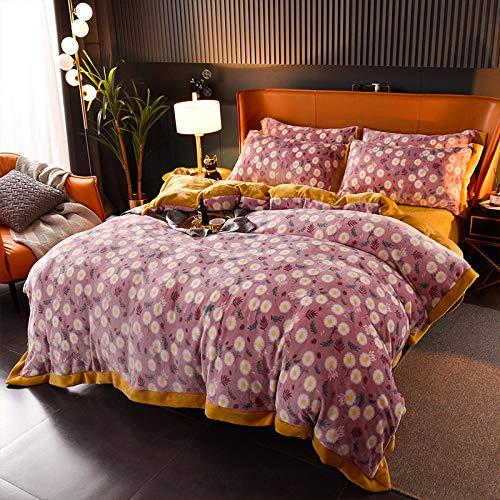 Extra Large Bedding Cover Egyptian Cotton Winter Snow Fleece Four-Piece Duvet Cover Bedding 1.8m Bed Sheet