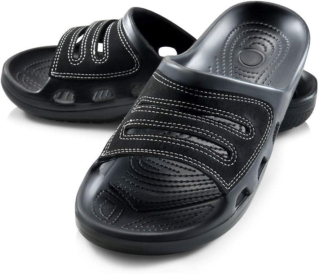 Roxoni Men Sandals Shower Slides for New arrival Washington Mall Slip-On Toe Open Sl