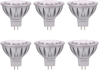 ALIDE MR16 Led Bulbs GU5.3 7W 6000K Daylight Cool Bright White,Replace 50W Halogen Equivalent,12V MR16 Bulb Spotlight for Kitchen Home Track Ceil Recessed Accent Lighting,Not Dimmable,38 Deg,6 Pack