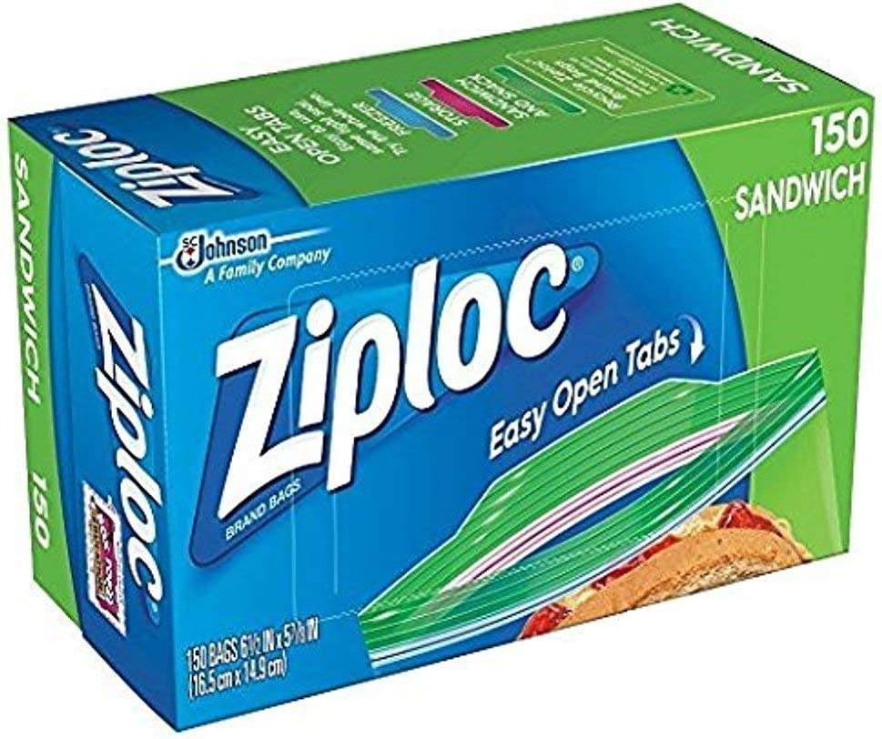 Ziploc Sandwich Bags 150 bags Clear x 2 = Discount is also All items in the store underway 300
