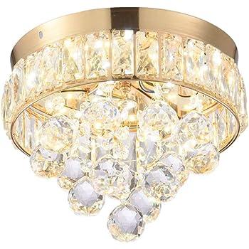 Design LED Decken Lampe Schlaf Gäste Zimmer Glas Kristall Leuchte rund DIMMBAR