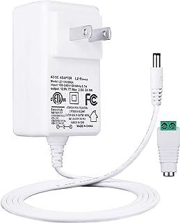 Lacasa ACアダプター 12V 2A 電源 DC5.5mm 2.1mm DC端口 ランス 汎用 アダプタ、最大出力24W适配器 AC100-240V / DC12V アダプター 2A、ETL米国の認証、全長1.5M