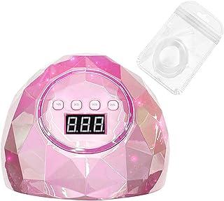 DressLksnf Led UV Gel de Uñas Curado Nail Art Machine Lámpara Luz Gel de Uñas Secador de Esmalte Máquina de Fototerapia + Fibra de Extensión de Uñas