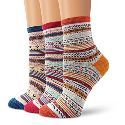 Ofeily Moliker Frauen Socken Baumwolle Beiläufig Lustig Niedlich Tier Gemusterte Socken Kunst Funky Bunt Karikatur Geschenksocken (ZYX-00103J)