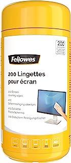 Fellowes Boite 200 Lingettes nettoyantes pour le Bureau, pour les écrans et autres surfaces, sans alcool, 8562901