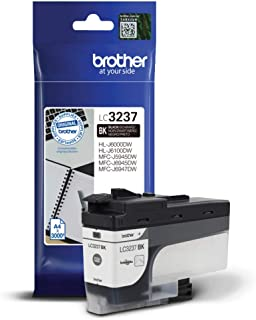 Brother LC-3237BK Inkjet Cartridge, Black, Single Pack, Super High Yield, Includes 1 x Inkjet Cartridge, Brother Genuine S...