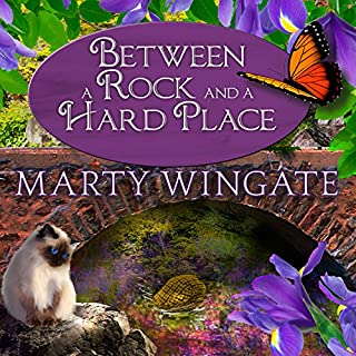 Between a Rock and a Hard Place     Potting Shed Mysteries Series #3               By:                                                                                                                                 Marty Wingate                               Narrated by:                                                                                                                                 Erin Bennett                      Length: 10 hrs and 19 mins     137 ratings     Overall 4.4