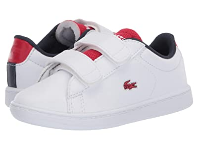 Lacoste Kids Carnaby Evo 120 2 SUI (Toddler/Little Kid) (White/Red) Kid