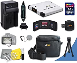 Ideal Accessory Kit for Nikon Coolpix S32, S100, S3100, S3200, S3300, S3500, S4100, S4200, S4300, S5200, S5300, S6400, S6500, S6800 Digital Cameras Includes 16GB High Speed Memory Card + 1 High Capacity EN-EL19 ENEL19 Lithium-ion Battery with Quick AC/DC Charger + Water Resistant Padded Case + Universal Card Reader + Mini Table Tripod + Memory Case Holder + Screen Protectors + Deluxe Cleaning Kit + Lens Cap Holder + Ultra Fine HeroFiber Cleaning Cloth