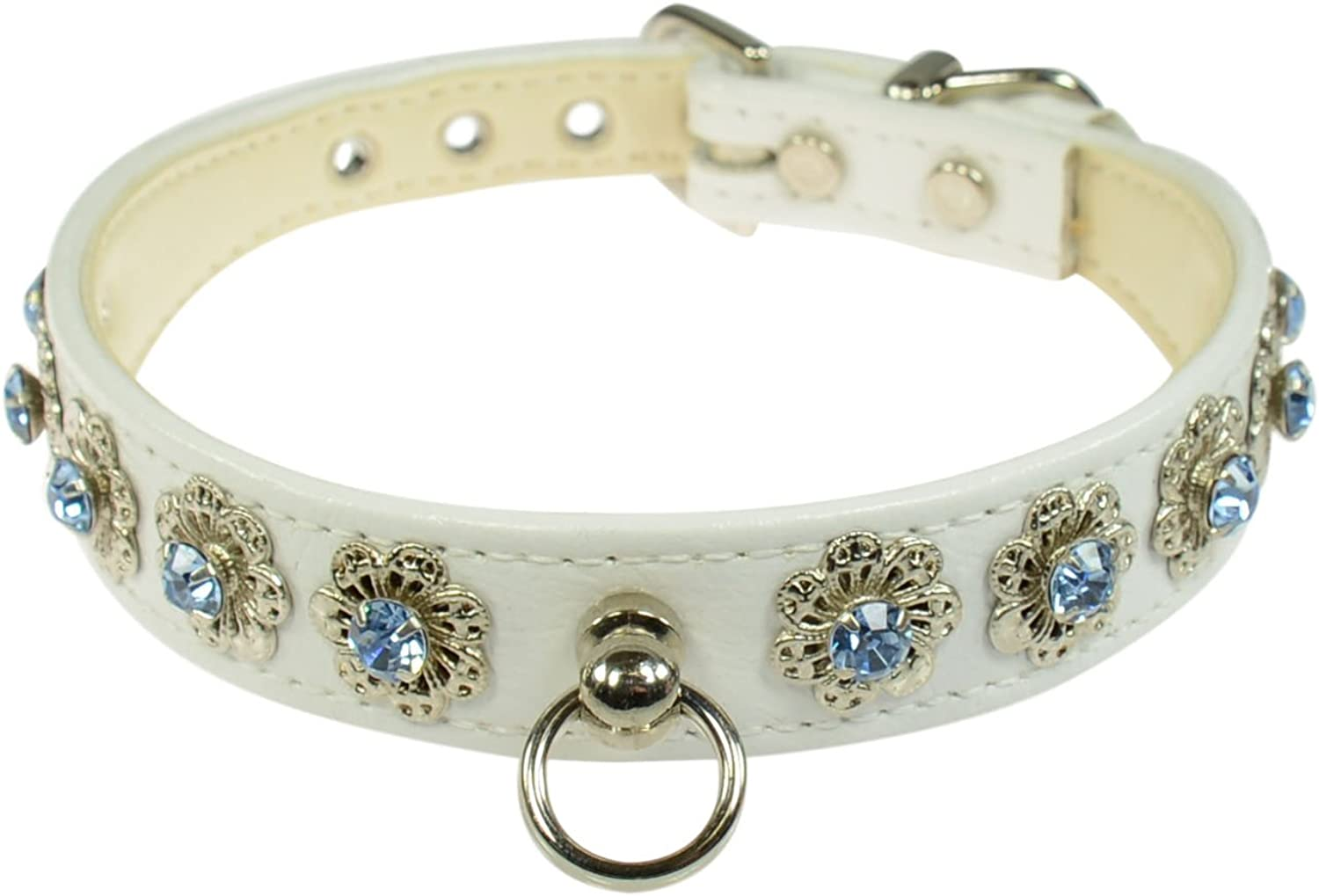 Evans Collars 3 4  Shaped Collar with Starlight Pattern, Size 12, Vinyl, White