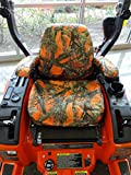 Durafit Seat Covers, KU08 MC2 Orange Exact FIT SEAT Cover for KUBOTA MOWERS. ZD321, ZD323, ZD326, ZD331, ZG327 in Orange Camo Endura