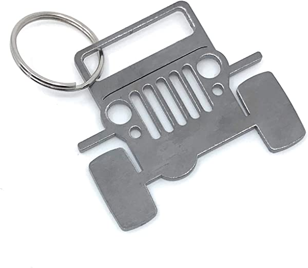 Ella Sussman Rustic Jeep Key Ring Fob Chain Off Road Cherokee Four Wheeler Decor Made In The USA