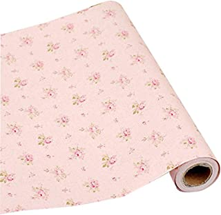 Walldecor1 Rose Contact Paper Floral Self Adhesive Shelf Drawer Liner Cabinet Countertop Dresser Sticker 17.7 x 78.7 Inches