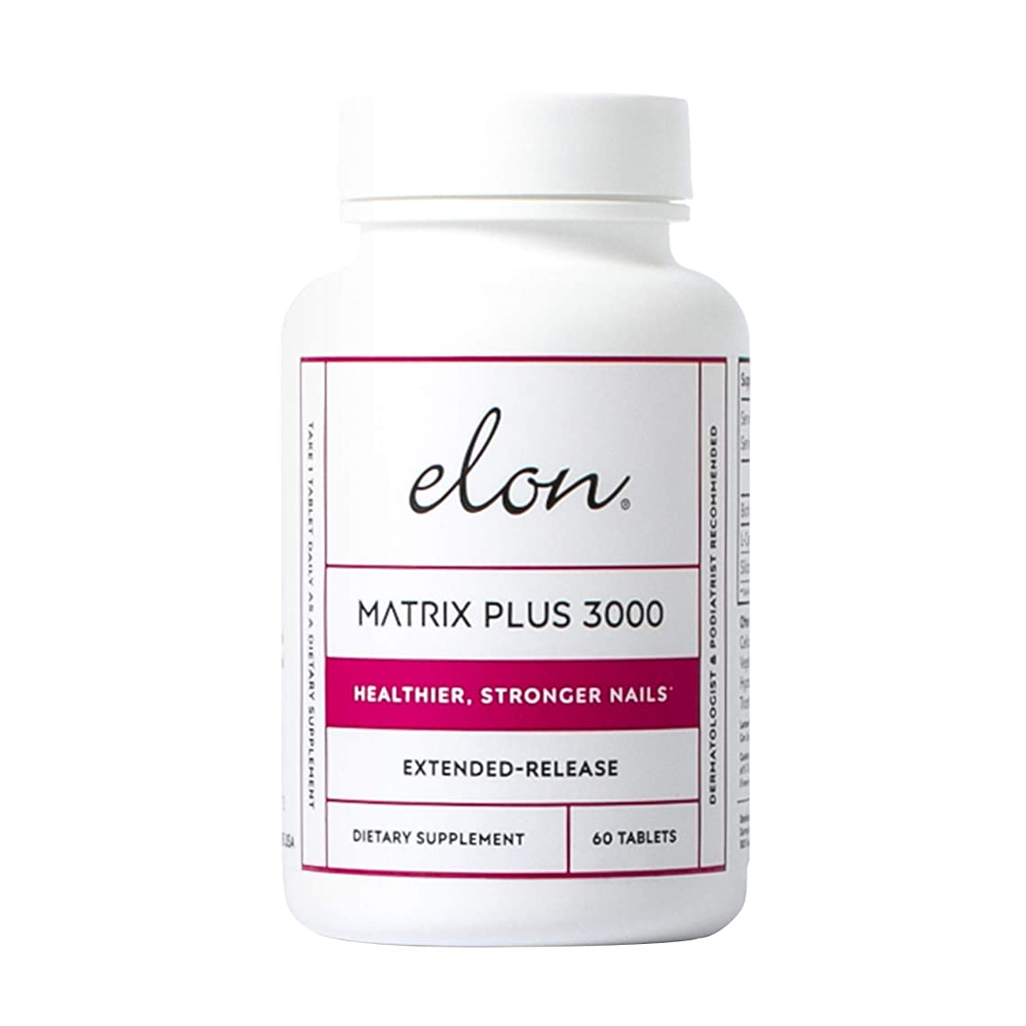 ELON Matrix Plus 3000 for Stronger and Healthier Nails – 60 Tablets | Professionally Formulated to Nourish, Enhance & Strengthen Nails | Designed with Biotin, L-Cysteine & Silicon Dioxide