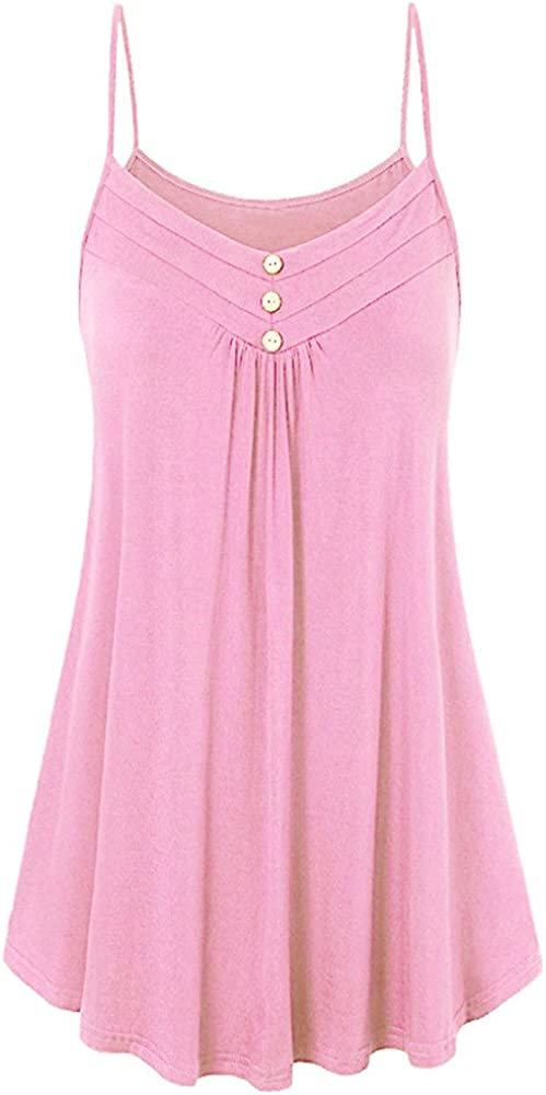 free shipping TWGONE Dressy Free shipping anywhere in the nation Tank Tops for Women Summer Plus Loose Button Size