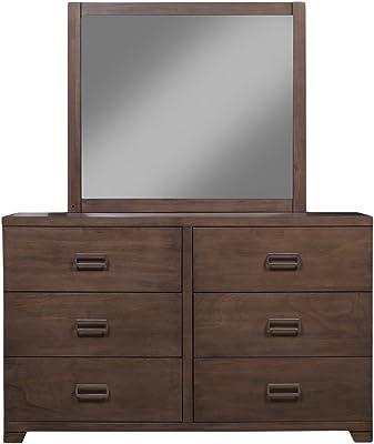 Alpine Furniture Savannah 6 Drawer Dresser & Mirror Set
