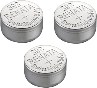Renata Single Watch Battery Swiss Made Renata 393 or SR754SW Or AG5 1.5V (3 x 393 Or SR 754 SW)