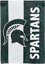 Team Sports America Collegiate Michigan State University Embroidered Logo Applique Garden Flag, 12.5 x 18 inches Indoor Ou...