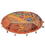 Stylo Culture pavimento Seating cuscino Boemia pouf poggiapiedi arancione 101,6cm ricama...