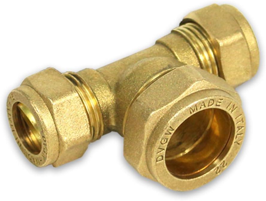 Reduzierhülse Cu-Rohr 28 auf 22 Klemmverschraubung Verschraubung für Kupferrohr