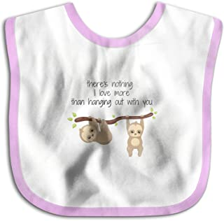 UBCATDESA Baby Sloth Baby Bibs, Unisex Baby Soft Cotton Easily Clean Teething Bibs(Blue&Pink)