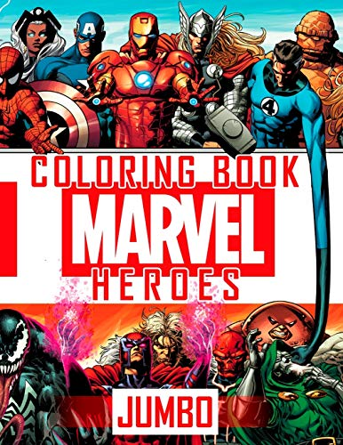 MARVEL JUMBO HEROES Coloring Book: Great 61 Illustrations for MARVEL Fans (2020)