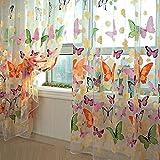 iDealhere Voilage en Tulle Motif Papillons