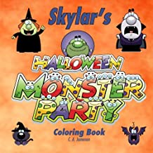 Skylar's Halloween Monster Party Coloring Book