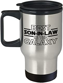 Best Son-in-Law in the Galaxy Travel Mug, Insulated Stainless Steel Tumbler, Star Wars Themed Gift