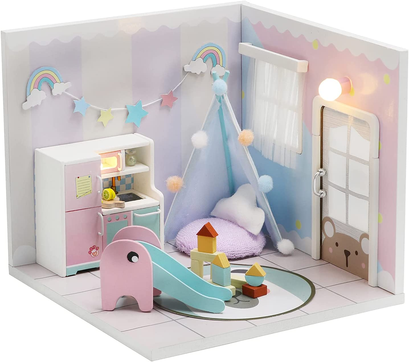 HETOMI DIY Dollhouse Miniature Outlet ☆ Free Shipping Kit Mini House Furniture with Max 84% OFF 3D