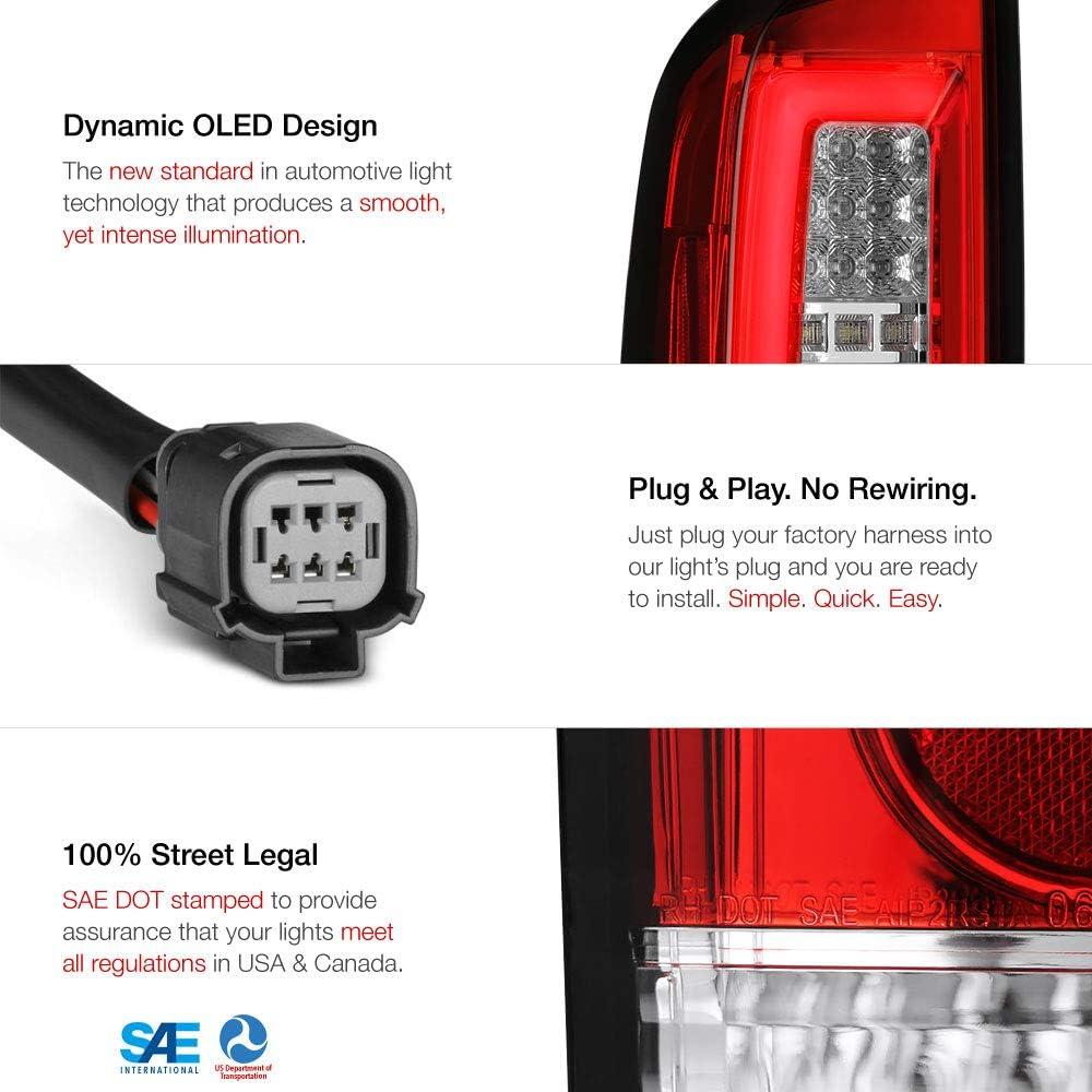 For 2015-2019 Chevy Colorado /& GMC Canyon Pickup Truck Black Housing Premium OLED Neon Tube Full-LED Tail Light Lamp Assembly Driver /& Passenger Side