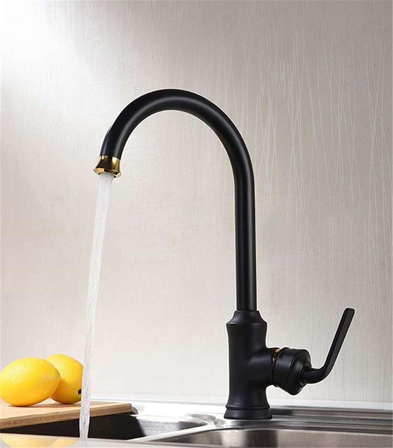 MIAORUI Hotel kitchen faucet tap high-end copper single hole basin cold and hot water tap