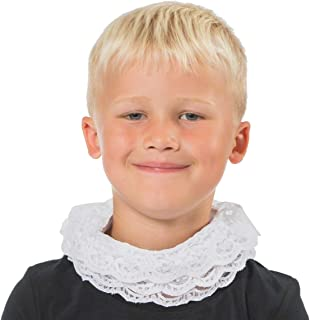 White Elizabethan Tudor Neck Ruff for Kids one Size fits All 3+ Years
