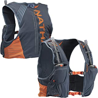 Nathan Men's Hydration Pack/Running Vest - VaporKrar 4L 2.0-4L Capacity with Twin 20 oz Soft flasks, Hydration Backpack - Running, Marathon, Hiking, Outdoors, Cycling and More