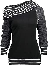 COPPEN Women's Blouse Winter Print Long Sleeve Stand Collar Chiffon Shirt Blouse Tops