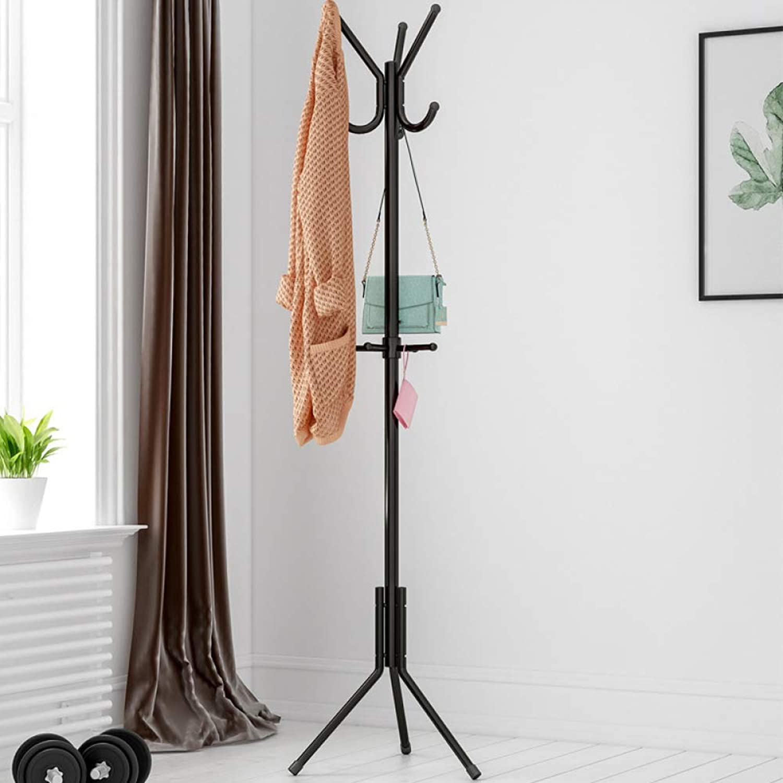 Laogg Standing Coat Stand Iron Metal Coat Rack Living Room Bedroom greenical Hanger Decorative Furniture