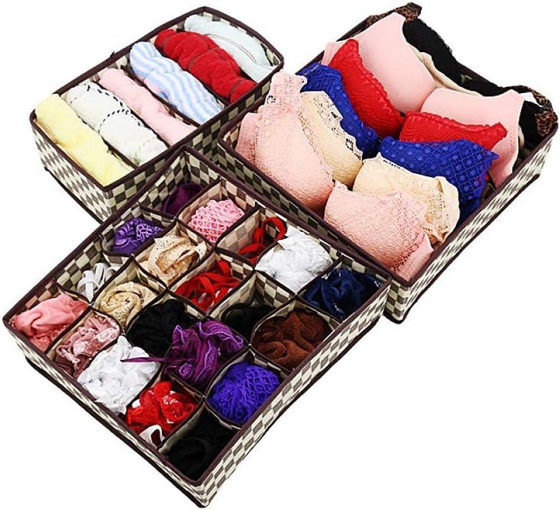 XHJTD Underwear Long-awaited Storage Box 3Pcs Br Foldable Set Divider Max 63% OFF