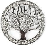 styleBREAKER Colgante de Adorno magnético del árbol de la Vida para chales, pañuelos o Ponchos con Piedras de estrás, Broche, señora 05050029, Color:Plata