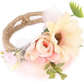 Bridal Party Open Floral Cuff Bracelet - Wedding Bride Bridesmaid Wrist Rose Petal Flower Corsage Wristband Prom Hand Decor