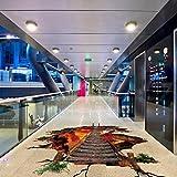 wandaufkleber wandtattoos Ronamick 3D Flaming Boden Wandaufkleber Removable Decals Vinyl Art Wohnzimmer (Multicolor)