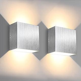 Applique LED, Applique d'intérieur SOLMORE 6W avec effet haut/bas, Applique blanc chaud 3000K 500LM, aluminium pour intéri...