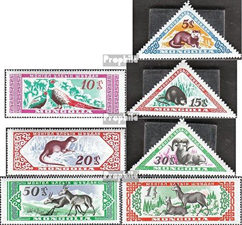 Prophila Collection Mongolei 170-176 (kompl.Ausg.) 1959 Mongolische Wildtiere (Briefmarken für Sammler) Säuger Sonstige