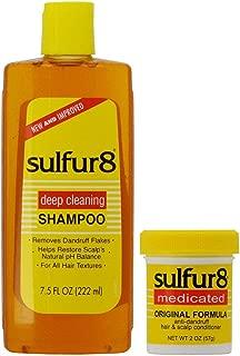Sulfur 8 Anti-Dandruff Hair & Scalp Care Shampoo 7.5oz + Conditioner 2oz