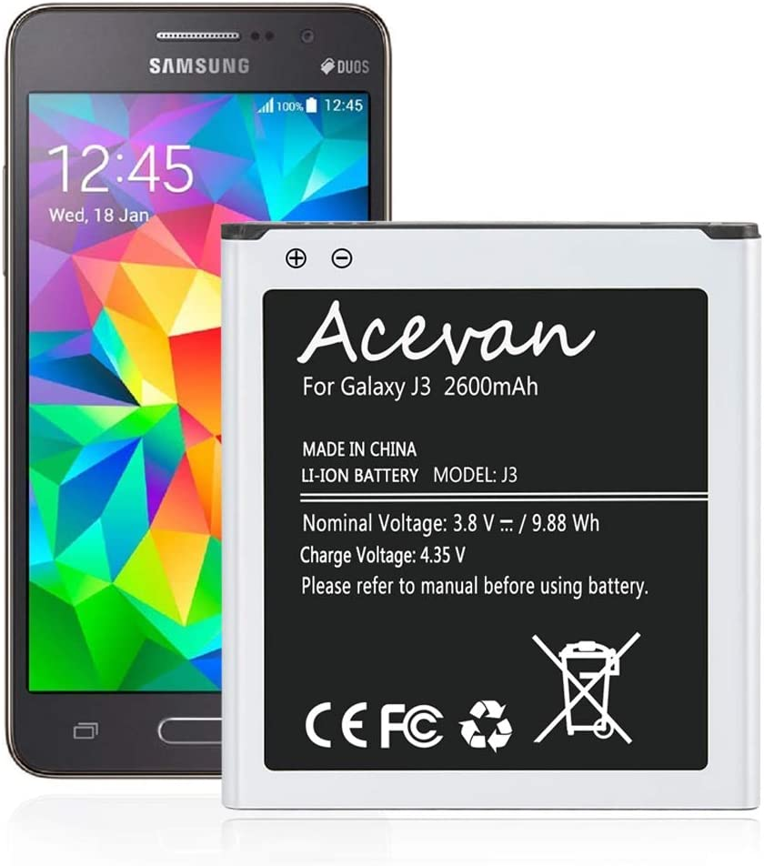Galaxy J3 Battery Free Shipping New Replacement Samsung Acevan for Max 85% OFF
