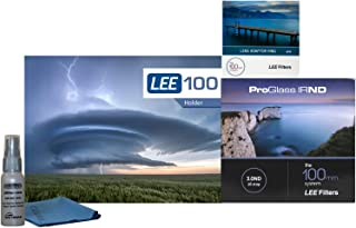 Lee Filters LEE100 77mm ProGlass 3.0 IRND Kit - Includes LEE100 Filter Holder, 100mm ProGlass IRND 10-Stop 3.0 Filter, 77mm Wide Angle Adapter Ring