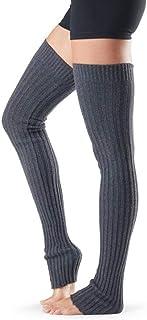 UKKD, Calcetines de yoga 2 Pares De Mujeres Muslo Alto Calentador De Pierna Para Mujer Calcetines De Botas Extra Larga Sobre El Cable De La Rodilla Knit Yoga Dance Socks